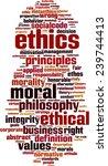 ethics word cloud concept.... | Shutterstock .eps vector #239744413