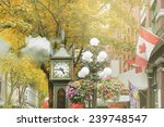 Stock photo historical steam clock in the center of vancouver 239748547
