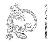 vector tribal decorative lizard.... | Shutterstock .eps vector #239749273