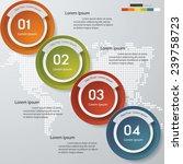 design clean number banners... | Shutterstock .eps vector #239758723