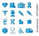 set of vector icons on the... | Shutterstock .eps vector #239764867