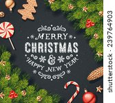 christmas decorations card | Shutterstock .eps vector #239764903
