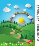 illustration of rainbow and... | Shutterstock .eps vector #239780113