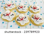 Melting Snowman Sugar Cookies...