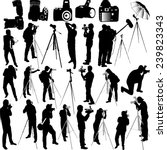 photographers and cameraman... | Shutterstock .eps vector #239823343