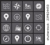 navigation icons | Shutterstock .eps vector #239824453