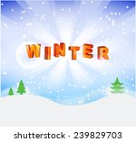 winter background | Shutterstock .eps vector #239829703