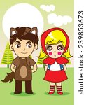 little red riding hood  | Shutterstock .eps vector #239853673