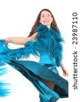 ballroom dancer woman on white...   Shutterstock . vector #23987110