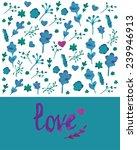 greeting card. vector... | Shutterstock .eps vector #239946913
