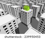green ecological house built on ... | Shutterstock .eps vector #239950453