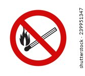 no naked flame warning sign ... | Shutterstock .eps vector #239951347