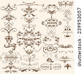 vector set of flourishes for... | Shutterstock .eps vector #239953057
