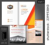 white vector brochure template... | Shutterstock .eps vector #239953843