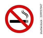 no smoking sign  vector... | Shutterstock .eps vector #239957047