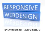 3d render blue box with text...