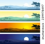 set of tropical mountain... | Shutterstock .eps vector #239978497