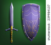 sword and shield. vector...