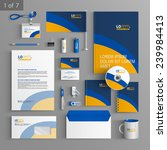 stationery template design with ... | Shutterstock .eps vector #239984413