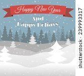 happy new year landscape vector ... | Shutterstock .eps vector #239993317