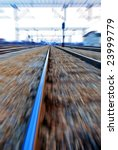 simulation of speed on a rail... | Shutterstock . vector #23999779