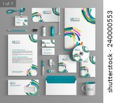 colorful stationery template... | Shutterstock .eps vector #240000553