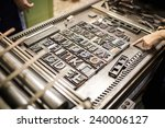 old typography printing machine | Shutterstock . vector #240006127