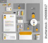 gray stationery template design ... | Shutterstock .eps vector #240008317