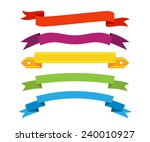 set of retro ribbons and labels.... | Shutterstock .eps vector #240010927