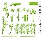 Sugar Cane Decoration Elements...