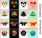 logo and abstract web icon... | Shutterstock .eps vector #240014023