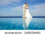 portrait of a bride and groom... | Shutterstock . vector #240028483