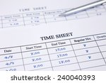 record working times focus on... | Shutterstock . vector #240040393