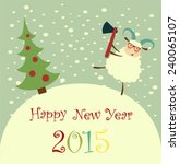 sheep is to cut a christmas...   Shutterstock .eps vector #240065107