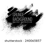 black ink vector stains | Shutterstock .eps vector #240065857