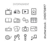 set of simple entertainment... | Shutterstock .eps vector #240070897
