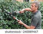 Portrait Of A Male Gardener...