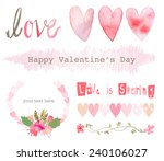 vector of love and valentines... | Shutterstock .eps vector #240106027
