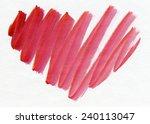 the stylized heart. watercolor. | Shutterstock . vector #240113047