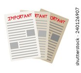 important paper documents  ... | Shutterstock .eps vector #240126907