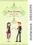 merry christmas and happy new... | Shutterstock .eps vector #240134293