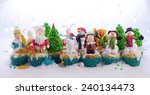 festive cupcakes decorated with ... | Shutterstock . vector #240134473