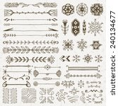 hand drawn assorted design... | Shutterstock .eps vector #240134677