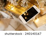 white smartphone with the... | Shutterstock . vector #240140167