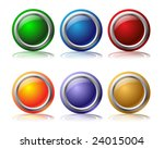 glossy web buttons | Shutterstock .eps vector #24015004
