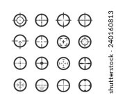 crosshair icons set | Shutterstock .eps vector #240160813