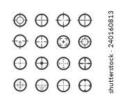 crosshair icons set | Shutterstock .eps vector #240160813