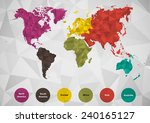 world map is classified by... | Shutterstock .eps vector #240165127