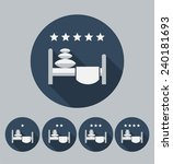 hotel icon. flat design. vector. | Shutterstock .eps vector #240181693