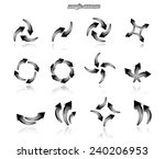 set of black arrows isolated on ... | Shutterstock .eps vector #240206953